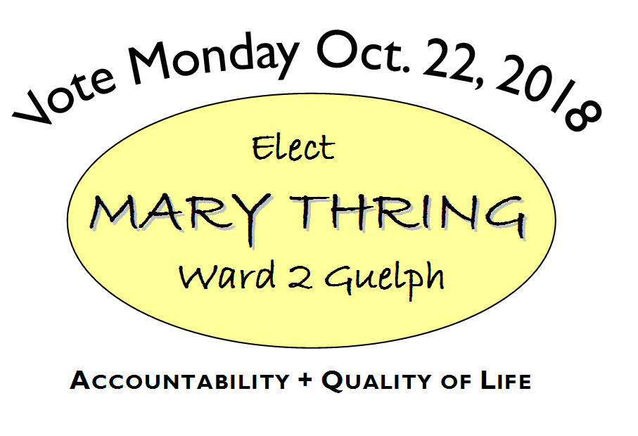 Elect Mary Thring Ward 2 Guelph