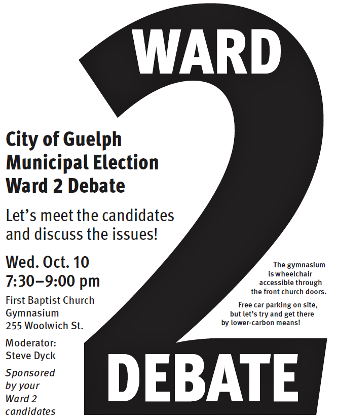 Ward 2 All Candidates Debate Wed Oct 10