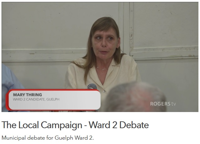 Oct 10 Debate on Rogers Community TV